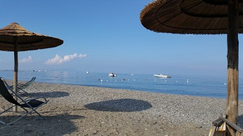 Cicero-Beach with view to the Eolian Islands